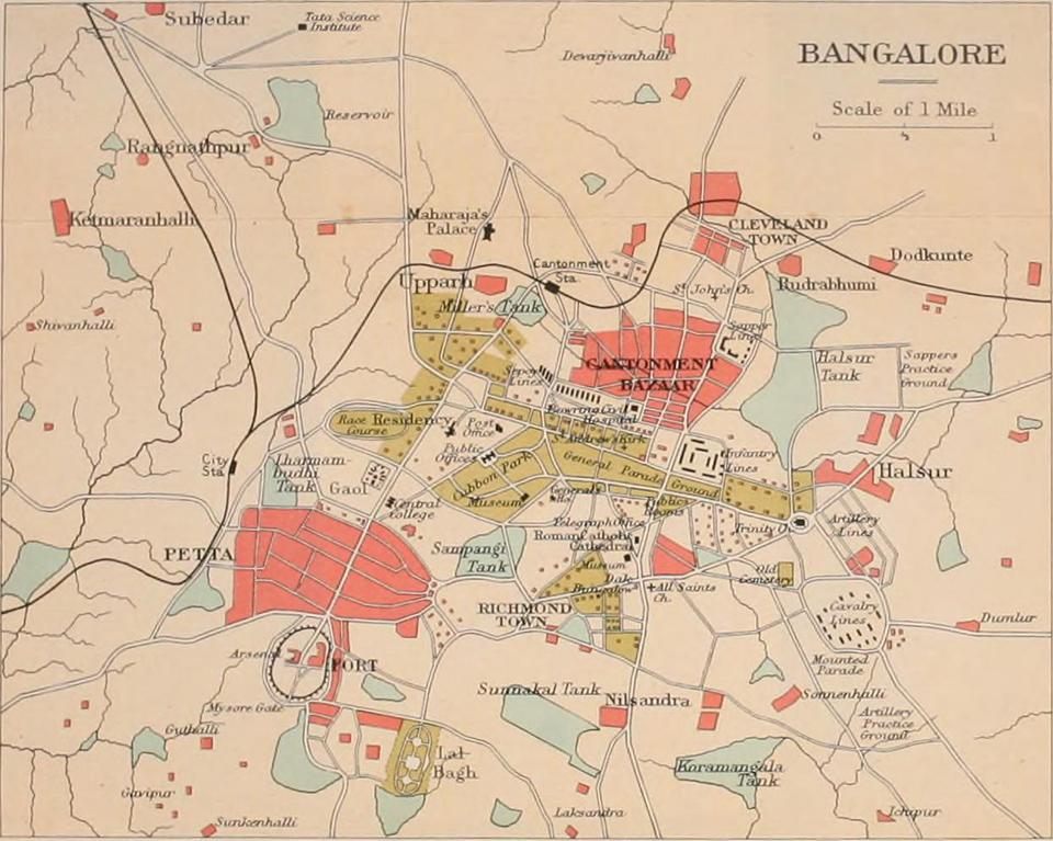 3.1911_Map_of_Bangalore_Karnataka_India