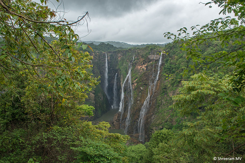 Jog Falls. The climb down – around 1400 steps – to the base of the falls can be very exciting. The climb back up is as exhausting.