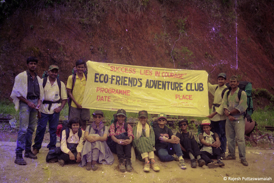 At one of the treks organized in 1999 from Sakleshpur to Kukke Subramanya, on a dysfunctional rail road popularly known as the Green Route