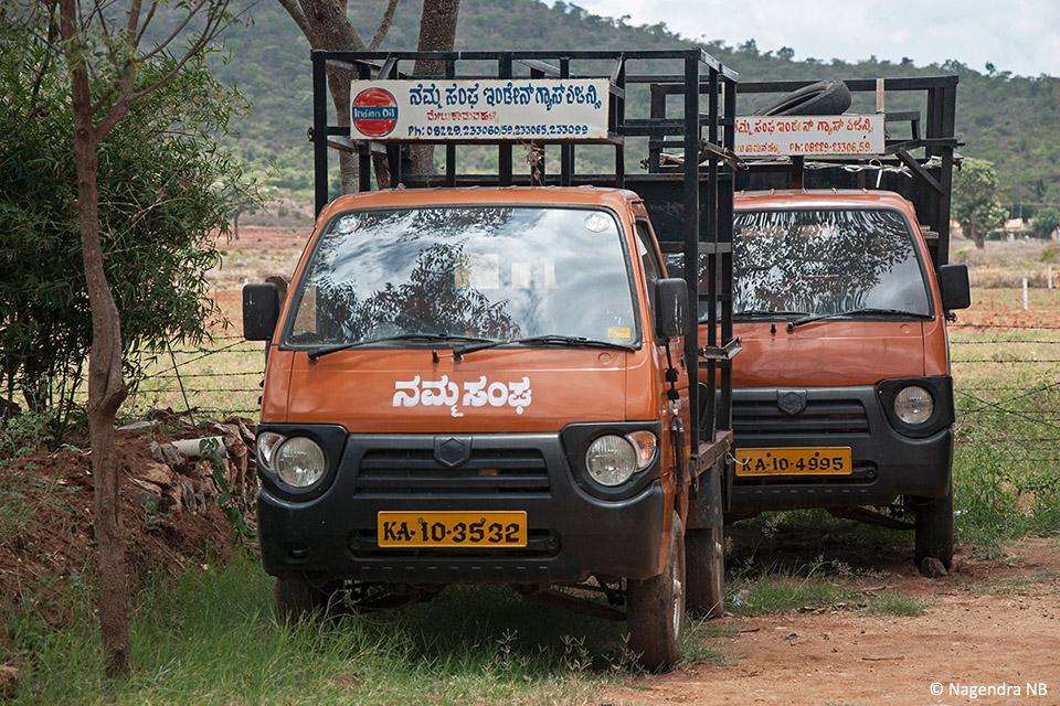 Namma Sangha LPG distribution vehicles